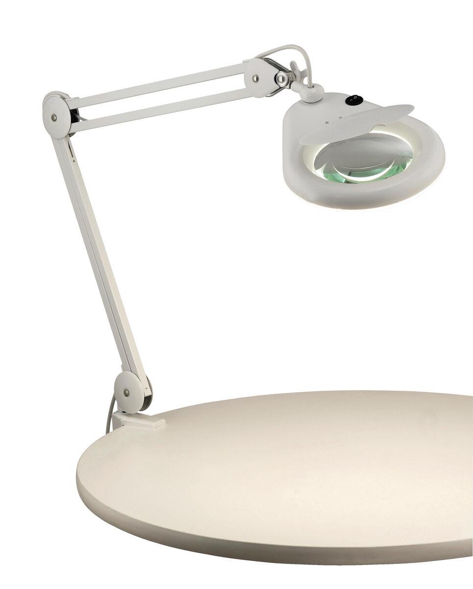 skrivbordslampa med förstoringsglas