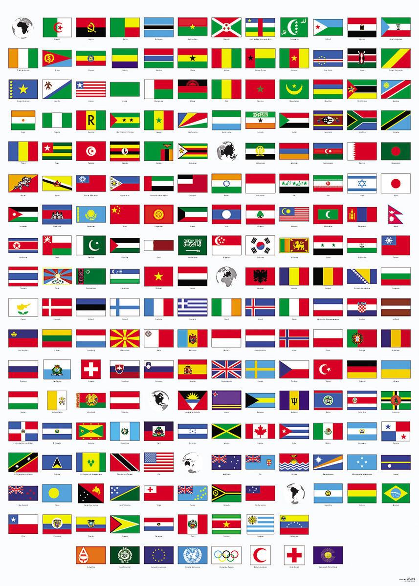 Affisch flaggor - Lekolar Sverige